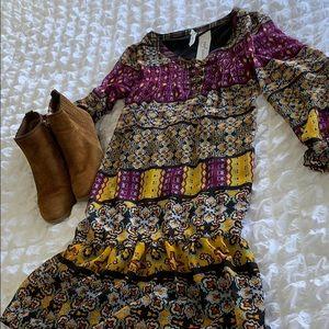 NY Collection BoHo Shift Dress, SZ M